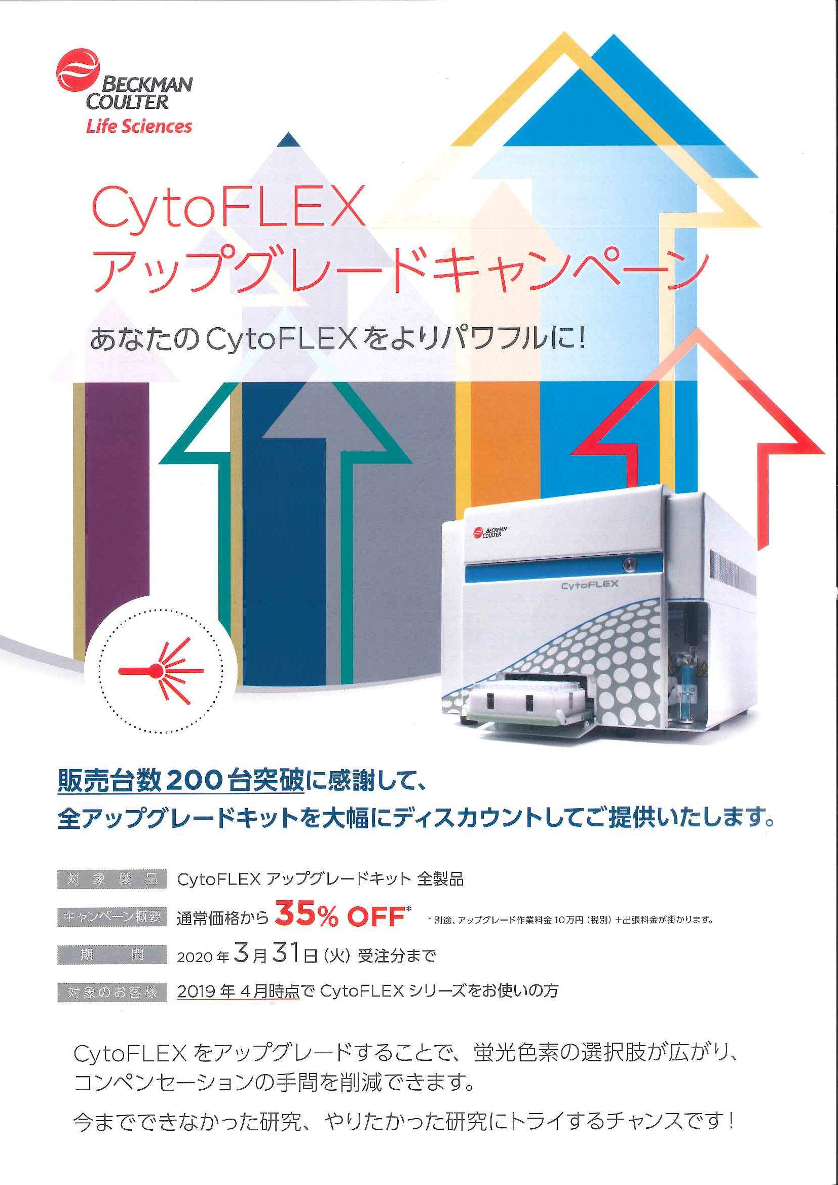 【終了】ベックマン・コールター CytoFLEXアップグレードキャンペーン!